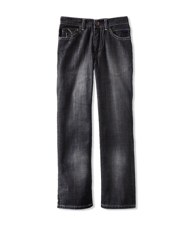 Micros Boy's 6-Pocket Denim Jean (Black Sand Blast)
