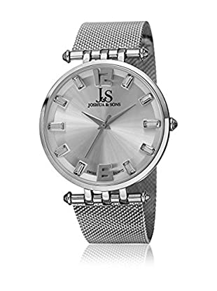 Joshua & Sons Uhr mit schweizer Quarzuhrwerk Man silberfarben 42 mm