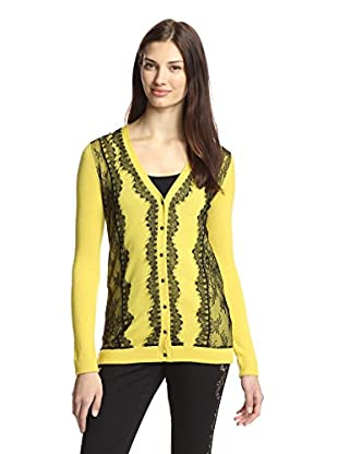 Marchesa Voyage Women's Lace-Trimmed Cardigan