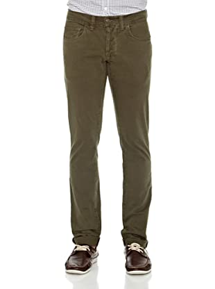 Carrera Jeans Pantalón Gabardina Stretch (Verde)