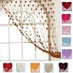 summer heart curtain-Brown