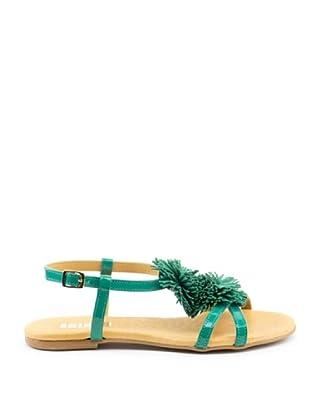 Misu Sandale Pompon (Grün)