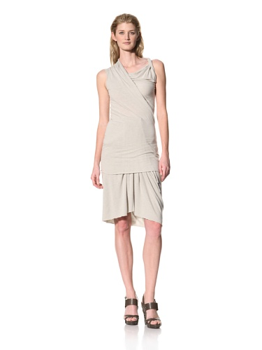 RICK OWENS Women's Twist Shoulder Sleeveless Top, , (Pearl)