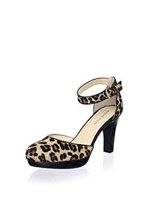 Adrienne Vittadini Footwear Women's Pasquale Platform Pump (Tan/Hair/Calf)