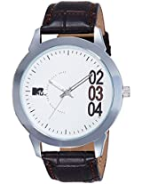 MTV Analog White Dial Men's Watch - M-3007