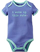 I Woke Up This Cute Bodysuit (Blue, 6M)