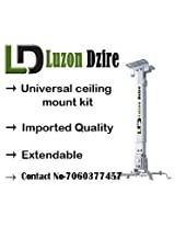 Luzon Dzire Universal LCD/DLP PROJECTOR Ceiling Mount Set (White) including Screws 2 Ft (1 + 1)