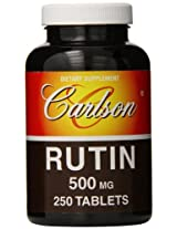 Carlson Labs Rutin 500mg Quercetin 250mg, 250 Tablets