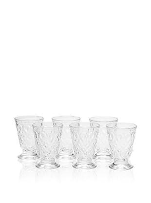 La Rochère Set of 6 Lyonnais Décor 7-Oz. Goblets