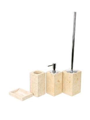Gedy by Nameeks Claudia Bathroom Accessory Set, Beige