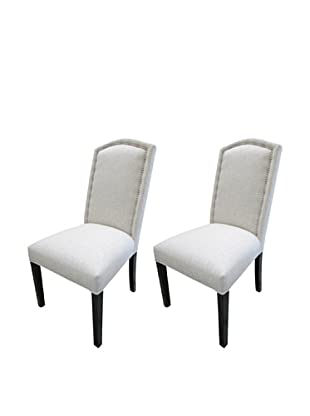 Sole Designs Set of 2 Nickel Nails Camelback Chairs, Sand