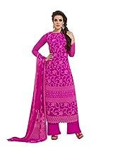 Texclusive Women's Pure Chiffon Semi Stitched Dress Material