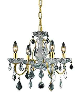 Crystal Lighting St. Francis 4-Light Chandelier, Gold