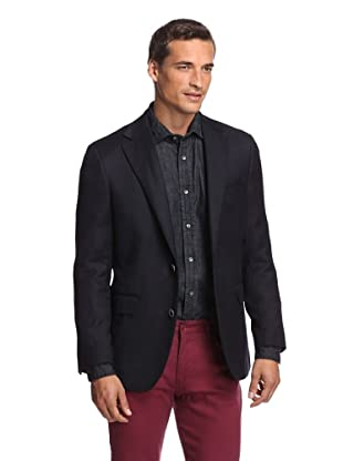 Ibiza Men's Corato Double Faced Sport Coat (Black/brown)