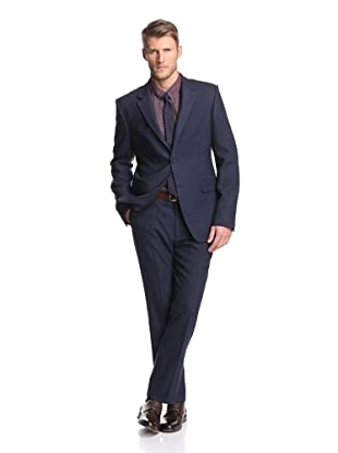 Calvin Klein Collection Men's Bowery 2-Button Suit (Marine)