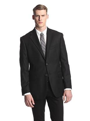 Joseph Abboud Men's Basic Signature Silver Sportcoat (Black)