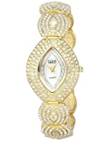 Burgi Women's BUR052YG Oval Crystal Quartz Bracelet Watch