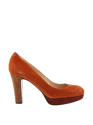 Paco Herrero Zapatos Salón Plataforma (Naranja)