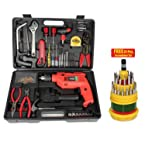 New 102 Pcs. Multipurpose Tool Kit with Powerful Drill Machine + Free Professional 31 Pcs. Screwdriver Set