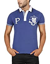 Paani Puri Men's Polo (MPSPP112_Royal Blue_Small)