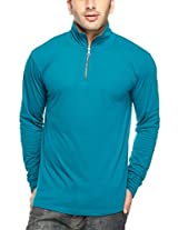 Gritstones Men's Polo (GSFSZPHYNCK60053TORQ_Light Blue_X-Large)