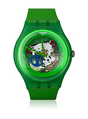 Swatch Quarzuhr Unisex Unisex GREEN LACQUERED SUOG103 41.0 mm