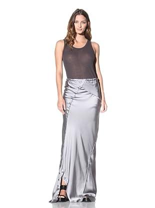 Ann Demeulemeester Women's Long Button Skirt (Pearl)