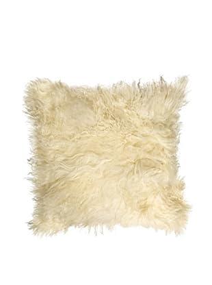Natural Brand Mongolian Sheepskin Pillow, Natural