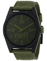 Neff Men's NF0209-olive Custom Designed Neff and Nylon Strap Olive Watch