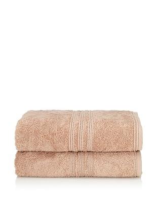 Chortex 2-Piece Imperial Bath Sheet Set, Beige