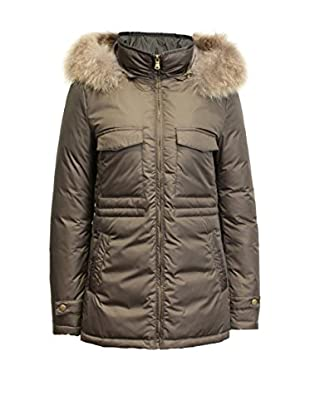 FRENCH COOK Daunenjacke Bi-Material Parka Of Flannel And Nylon. Detachable Raccoon Fur Trimmed Hood. Logo On The Sleeve. Item Delivered Folded Under Blister. Downjackets Are Slim Fitted. Do Not Hesitate To Take One Size Above The One You Usually Buy.