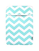 TopCase Chevron Series Hot Blue/Turquoise Sleeve Bag Cover for New Released Macbook 12 12-Inch Model : A1534 Retina Notebook