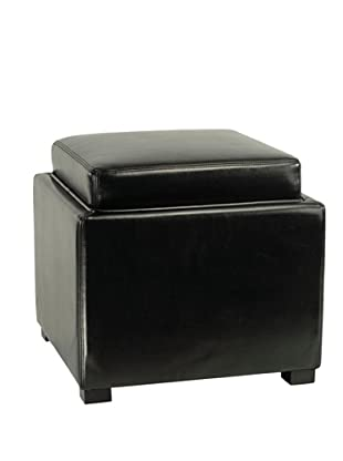 Safavieh Bobbi Tray Storage Ottoman, Black