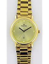 Maxima Gold Analog Gold Dial Men's Watch - 07137CMGY