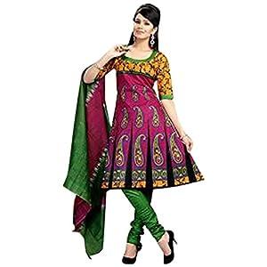 VandV-Rani Pink Cotton Printed Attractive Dress Material