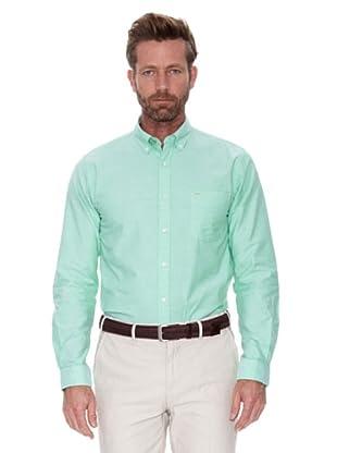 Cortefiel Camisa Oxford Liso Colores (Verde)