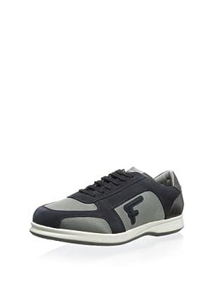 Salvatore Ferragamo Men's Travel 6 Sneaker (Navy/Grey)