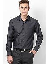 Dark Grey Full Sleeve Formal Shirt Peter England
