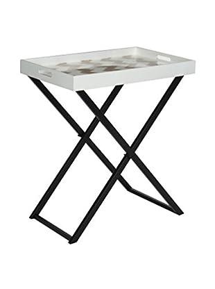 Safavieh Abba Tray Table, Grey/White