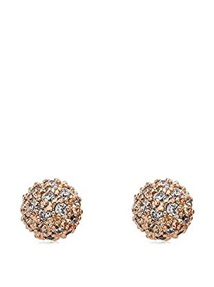 Riccova Retro CZ Pavé Ball Earrings, Rose Gold