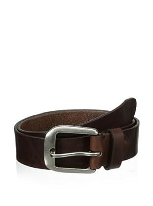 Bolliver Men's Basic Leather Belt (Dark Brown)