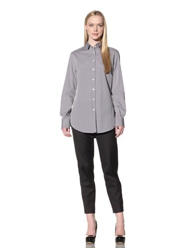 D&G by Dolce & Gabbana Women's Button-Up Shirt (Grey)