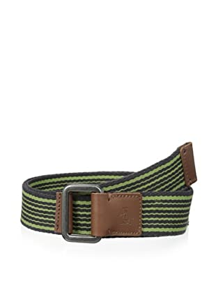 Original Penguin Men's Striped Webbed Belt (Licorice)