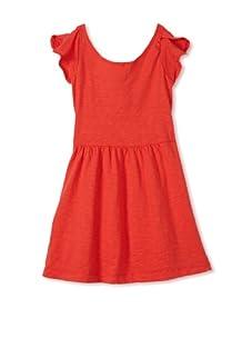 eggi kids Girl's Tie Back Dress (High Risk Red)