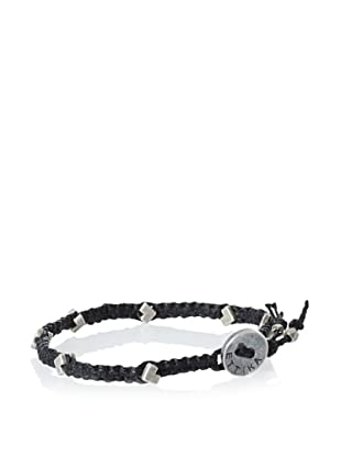 Ettika Men's Black Mini Chevron Bracelet