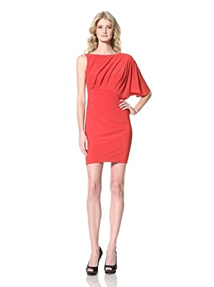 Vince Camuto Dresses Women's Asymmetric Sleeve Dress (Chinese Red)