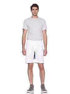 Johannes Faktotum Men's Racing Short (White/Royal)