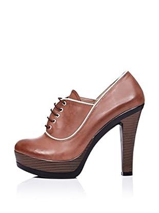 Ziya Zapatos Abotinados Cordones (Tabaco)