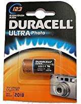 Duracell CR-123 2/3A 3V Photo Lithium Batteries DL123