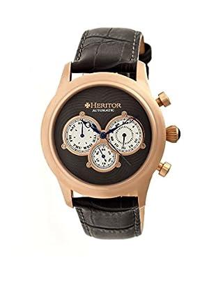 Heritor Automatic Uhr Earnhardt Herhr3104 schwarz 46  mm